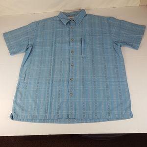 Magellan Mens XL Blue Casual Button Down Shirt
